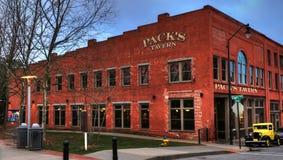 La taverne Asheville la Caroline du Nord du paquet image libre de droits