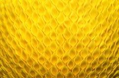 La tavola astratta del panno di giallo del fondo del tessuto progetta la Tailandia, Immagine Stock Libera da Diritti