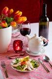 La tavola con il prosciutto specificato immagini stock libere da diritti