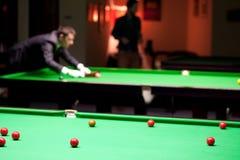 Nel club dello snooker Fotografia Stock Libera da Diritti