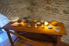 La tavola nel museo Fotografia Stock