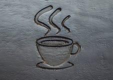 La taza de café talla fotos de archivo