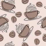 La taza de cristal irlandesa con la paja llenó glace frío Bebida que vigoriza enfriada con cafeína Café con syru vertido hielo-re libre illustration