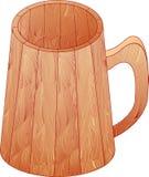 La taza de madera Imágenes de archivo libres de regalías