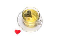La taza de té con el corazón Fotografía de archivo libre de regalías