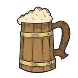 La taza más oktoberfest de la cerveza de madera del arte Fotos de archivo