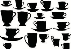 La taza siluetea la colección Fotos de archivo libres de regalías