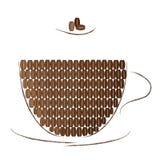 La tazza di Brown ha riempito di chicchi di caffè Immagine Stock