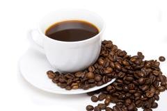 La tazza di caffè ed i fagioli 9 fotografie stock libere da diritti