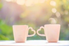 La tazza di progettazione di amore Fotografia Stock Libera da Diritti