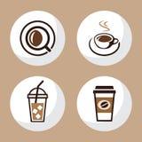 La tazza di tè e del caffè ha messo 1 Fotografia Stock