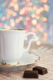 La tazza e il bokeh Fotografia Stock