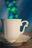 La tazza e il bokeh Fotografia Stock Libera da Diritti