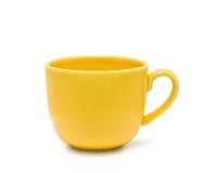 La tazza gialla Fotografie Stock