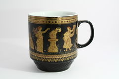 La tazza greca Fotografie Stock
