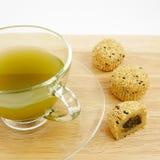 La tazza perfetta di tè verde Immagini Stock