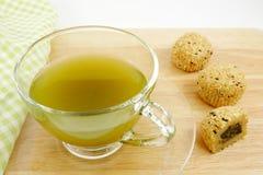 La tazza perfetta di tè verde Fotografia Stock