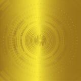 La technologie abstraite de fond entoure la couleur d'or Images stock