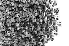La technologie cube le fond Images libres de droits