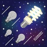 La technologie d'économie d'énergie est un avenir Images stock