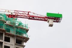 La technologie de la construction d'appartement ayant beaucoup d'étages Image libre de droits