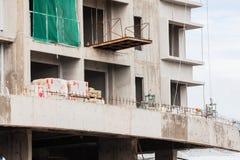La technologie de la construction d'appartement ayant beaucoup d'étages Photo stock