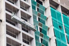 La technologie de la construction d'appartement ayant beaucoup d'étages Images libres de droits