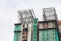 La technologie de la construction d'appartement ayant beaucoup d'étages Photos libres de droits