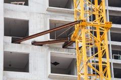 La technologie de la construction d'appartement ayant beaucoup d'étages Images stock
