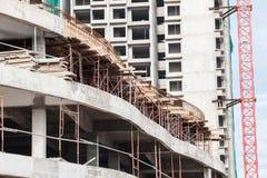 La technologie de la construction d'appartement ayant beaucoup d'étages Image stock