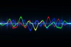 La technologie numérique audio d'égaliseur, palpitent musical résumé d'ainsi Photo stock