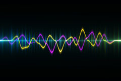 La technologie numérique audio d'égaliseur, palpitent musical résumé d'ainsi Image stock