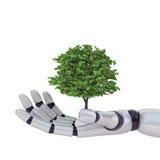 La technologie sauvegardent la nature Photo libre de droits