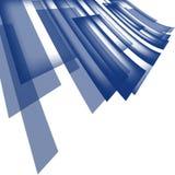 La tecnología abstracta diagonalmente coincidió color azul de la forma geométrica de los cuadrados en el fondo blanco stock de ilustración