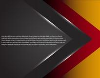 La tecnología corporativa negra y roja rayó diseño gráfico Líneas que brillan intensamente Tema colorido Imágenes de archivo libres de regalías
