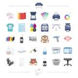 la tecnología, las materias textiles, la información y el otro icono del web ilustración del vector