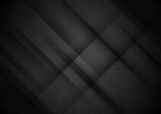 La tecnología negra raya el fondo abstracto Fotos de archivo