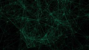 La tecnología verde alinea la animación de la conectividad ilustración del vector