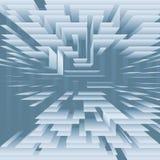 La tecnología abstracta nivela capas en azul Imágenes de archivo libres de regalías
