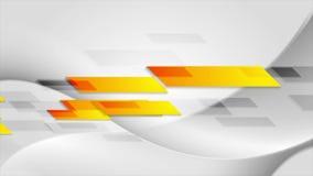 La tecnologia arancio luminosa modella la video animazione stock footage