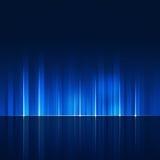 La tecnologia astratta dinamica allinea il fondo blu Fotografia Stock Libera da Diritti