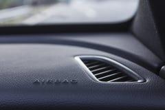 La tecnologia dell'airbag salva la vita durante l'incidente di traffico fotografia stock libera da diritti