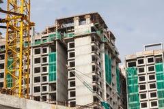 La tecnologia della costruzione dell'appartamento in un grattacielo Immagine Stock Libera da Diritti
