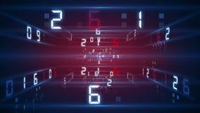 La tecnologia digitale numera il contro backgorund 4K illustrazione di stock
