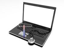 La tecnologia e la medicina, 3d rendono Fotografie Stock Libere da Diritti