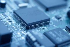 La tecnologia futuristica - raffreddi l'immagine blu di un CPU Immagine Stock Libera da Diritti