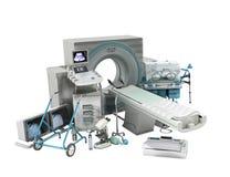 La tecnologia moderna nella tecnica medica 3d non rende su bianco s Fotografia Stock