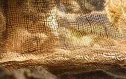 La tela di sacco naturale è usata per riso o come immagine di sfondo Fotografia Stock Libera da Diritti