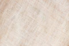 La tela di sacco o il fondo organico naturale della tela da imballaggio con lo spazio visibile della copia di struttura per testo Fotografia Stock
