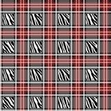 La tela escocesa, tartán inconsútil con la cebra raya el modelo Estampado de zebra, piel animal, rayas del tigre, modelo abstract ilustración del vector